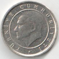 Монета 5 курушей 2006 (Турция)