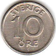Монета 10 эре 1947 (Швеция)