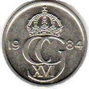 Монета 10 эре 1984 (Швеция)