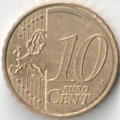 Монета 10 центов 2008 (Мальта, Центральный банк Мальты)