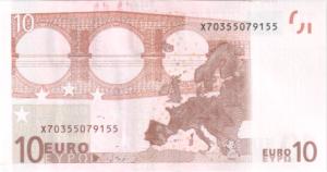 Банкнота 10 евро 2002 (ЕС)