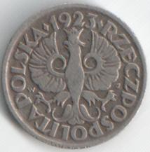 Монета 10 грош 1923 (Польша)