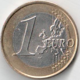 Монета 1 евро 2008 (Мальта, Центральный банк Мальты)