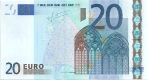 Банкнота 20 евро 2002 (ЕС)