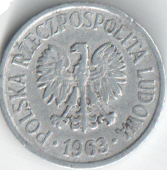Монета 20 грош 1963 (Польша)