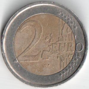 Монета 2 евро 2002 (Италия, Итальянский Монетный Двор)