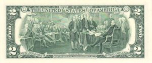 Банкнота 2 доллара 1995 (США)