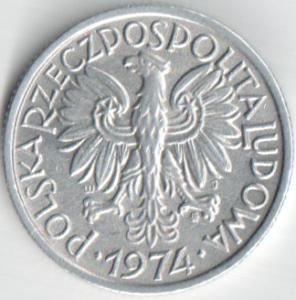 Монета 2 злотых 1974 (Польша)