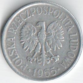 Монета 50 грош 1965 (Польша)