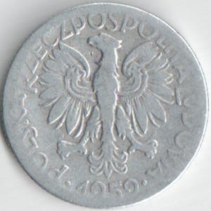 Монета 5 злотых 1959 (Польша)