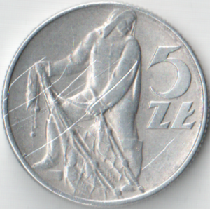 Монета 5 злотых 1974 (Польша)