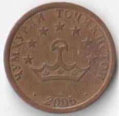 Монета 20 дирам 2006 (Таджикистан)