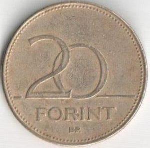 Монета 20 форинтов 1995 (Венгрия)