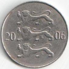 Монета 20 центов 2006 (Эстония)